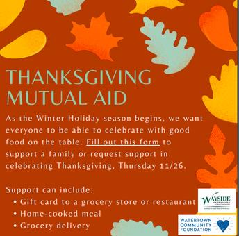 Thanksgiving  Mutal Aid
