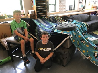 Students creating their Fort