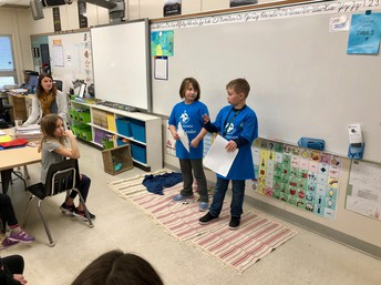 Young Citizen members teaching  about composting
