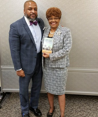 Superintendent of Schools, Dr. Ronald G. Taylor with civil-rights pioneer and author, Lynda Blackmon Lowery