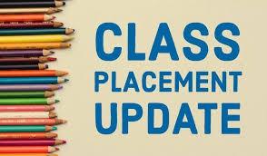 Class Placement Information - LIVE in PARENT PORTAL - September 2