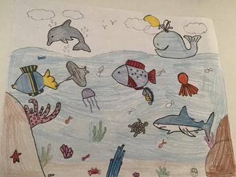 Alejandra Martinez - Draw a 2D habitat using foreground, midground, and background