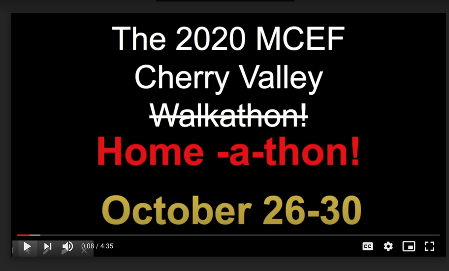 2020 MCEF Cherry Valley Homeathon