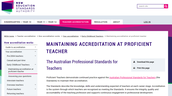 Maintaining Accreditation at Proficient Teacher: Early Childhood Teachers
