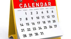 Upcoming Important Dates!