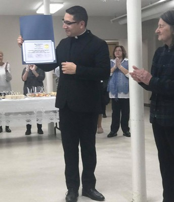 Fr. Carlos recognized by the City of Leominster