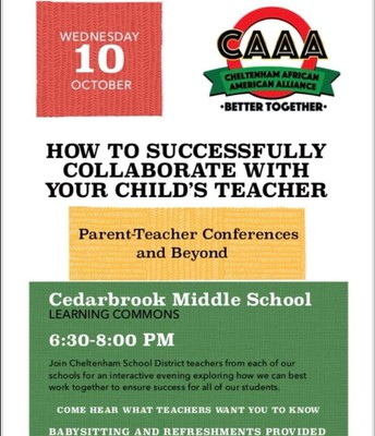 "CAAA ""Parent/Teacher Conferences and Beyond"""