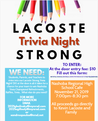 Lacoste Strong Trivia - NRHS - November 21