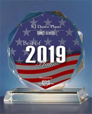 """""""2019 BEST OF PLANO"""" ACHIEVEMENT AWARD FOR KJ DANCE"""