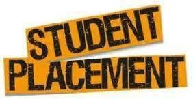 Student Placement orange sign