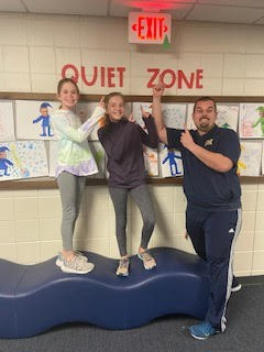 Students got into it and helped out Mr. Staver