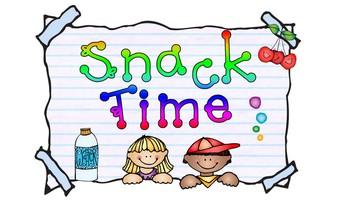 BELA Preschool Snack Menu