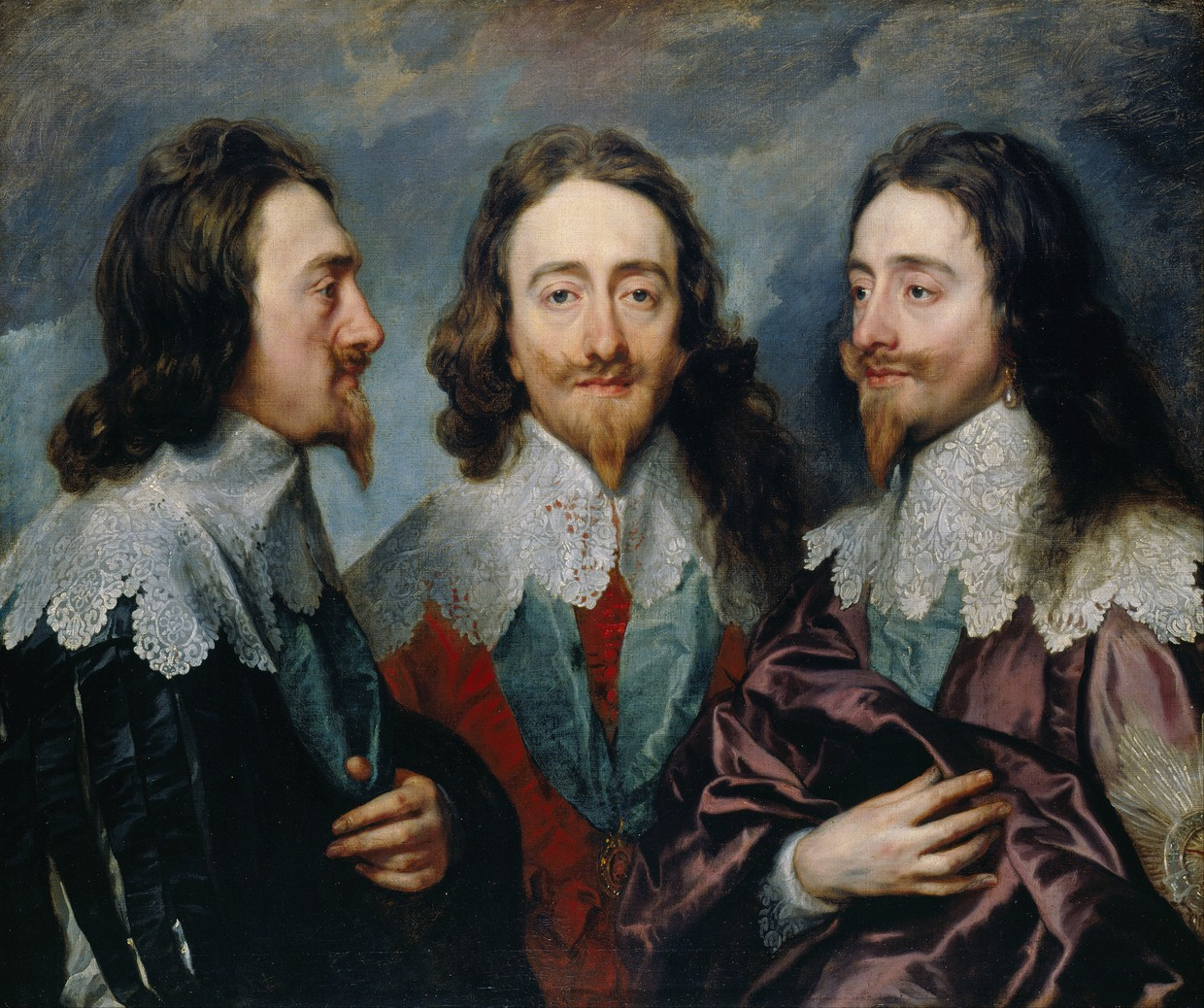 Anthony van Dyck: Charles I in Three Positions, (1635-1636), 85 x 100 cm, oil on canvas, Royal Collection