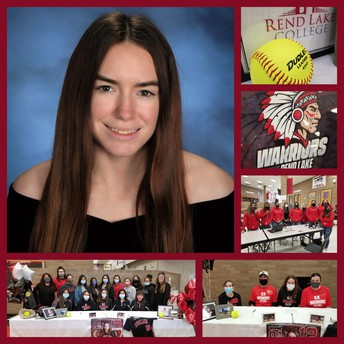 Amber Signs with Rend Lake!