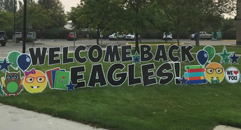 Ponderosa students welcomed with yard sign
