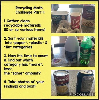 Kinder Recycling Math Challenge