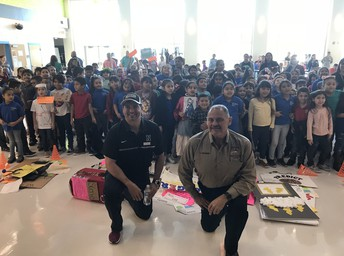 P-SJ-A school board members, Mr. Ronnie Cantu and Mr. Jorge Palacios assisted as judges for the K-2nd Vocabulary Parade.
