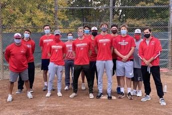 GHS Baseball Team posing for team photo during Alzheimer's Walk