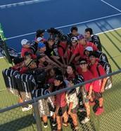 Tennis Celebrates a Victory Against #12 Argyle