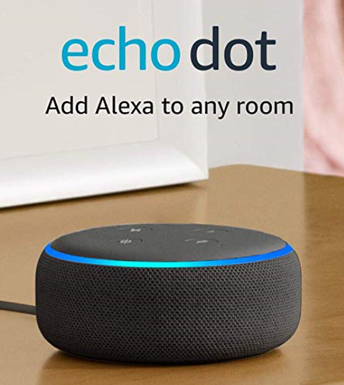 Amazon Echo Dot on table