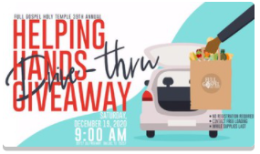 Helping Hand Outreach Drive- Thru Meal Giveaway