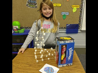Students in Mrs. Schumacher's Class Created Their Own Building Structures!