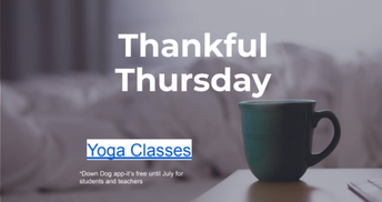 Yoga activity for this Thursday