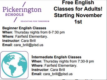 Adult EL Classes at Fairfield