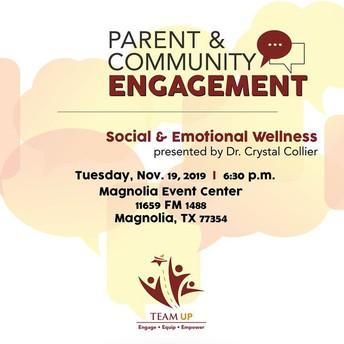 Parent & Community Engagement: Social & Emotional Wellness