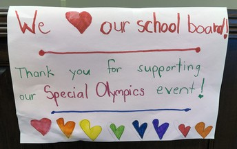 Students thank board for supporting Special Olympics