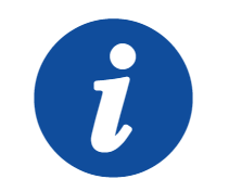 Graphic of lowercase I in blue circle