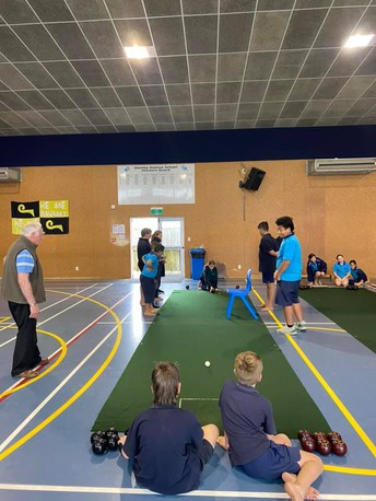Indoor Bowls with Mr Lowe