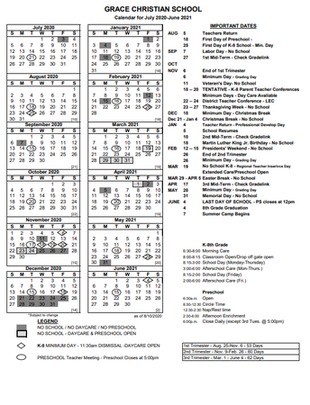Click here for printable school calendar.