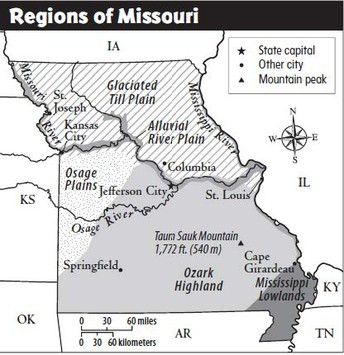Unit 1: Physical Features of Missouri (First 2 weeks of September)
