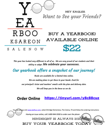 What A Year!! Buy Your Yearbook NOW!! Supply is limited!