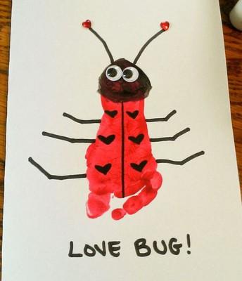 Love bug foot print