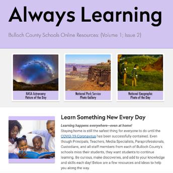 Always Learning newsletter issue 2 screenshot