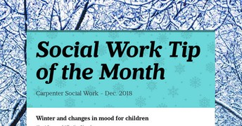 Social Work Tip of the Month