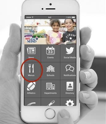 #1 Download the MISD app and Click Menus