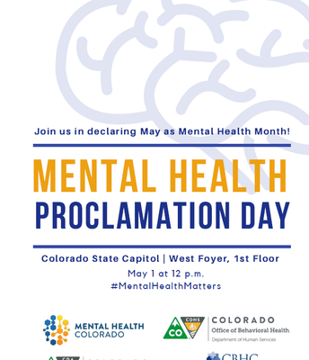 May is Mental Health Month for Colorado!