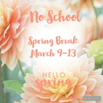 NEXT WEEK (3/9-3/13)