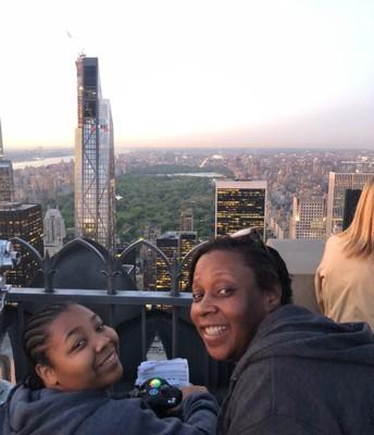 A birds eye view of the city form the top of Rockefeller Center!