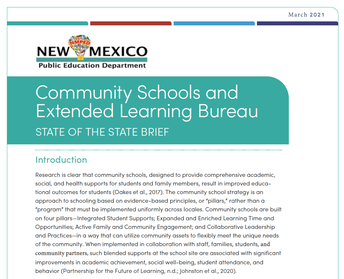NMPED Releases CS State of the State Brief