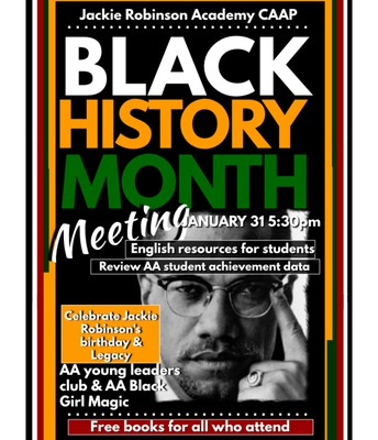 Concerned African American Parent (CAAP) Meeting - January 31 @ 5:30pm