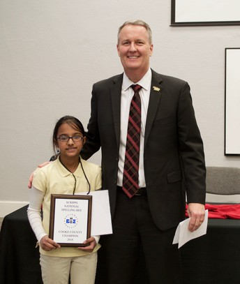 Lee 5th Grader Wins Cooke County Spelling Bee!