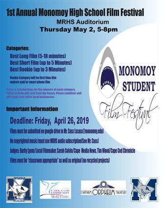 1st Annual Monomoy High School Student Film Festival