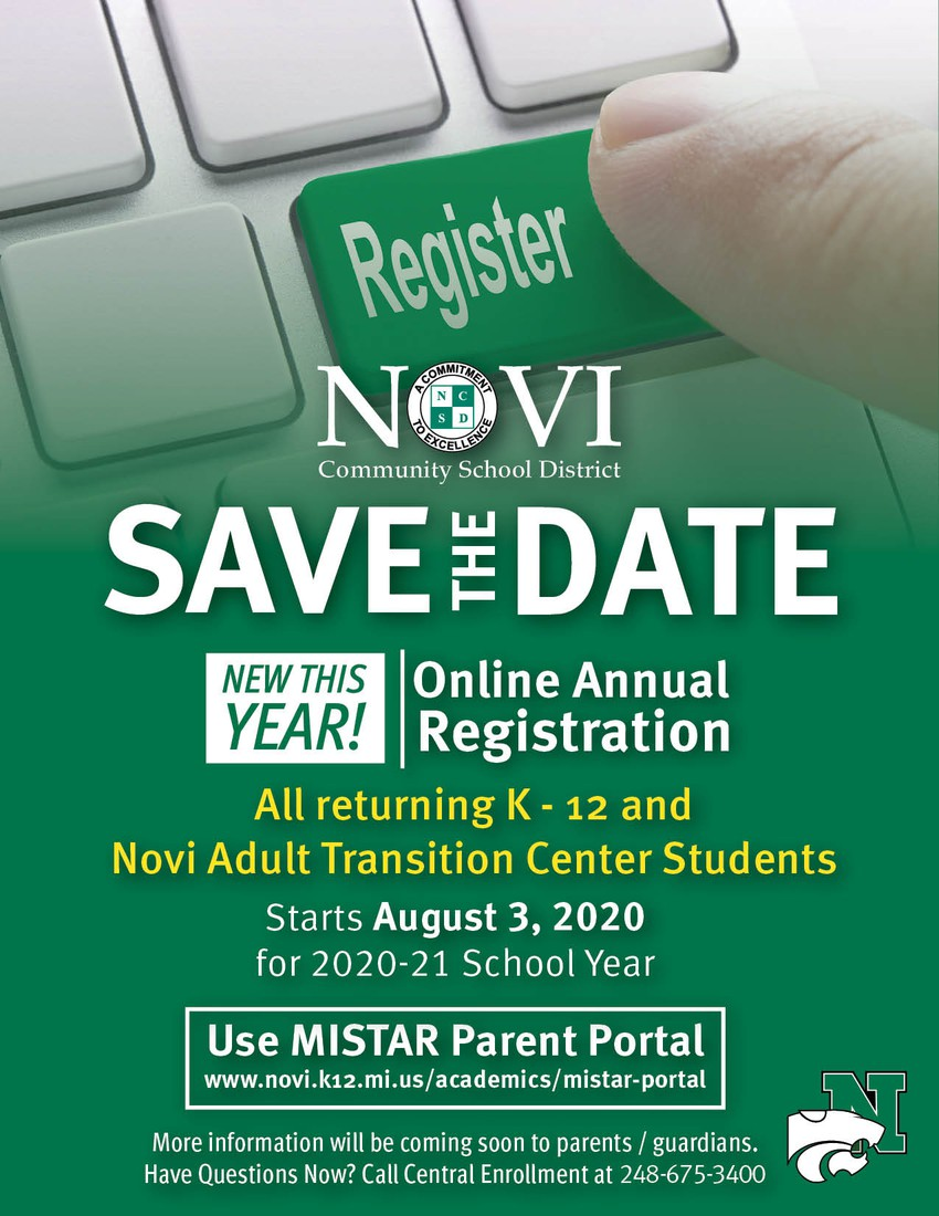 New this year online registration, illustration of information in Online Annual Registration article