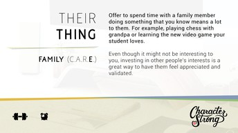 CHARACTER STRONG: Family Dare: Their Thing