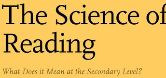 Science of Reading at the Secondary Level