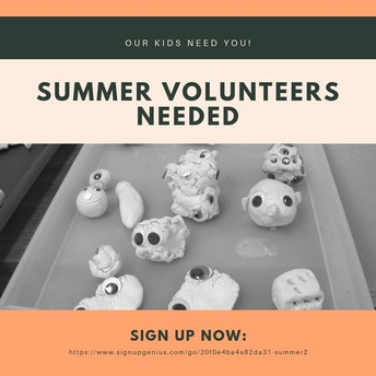 Summer Volunteers Needed - one time commitment